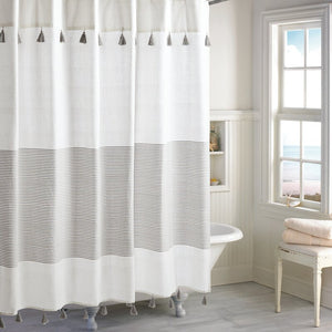 Campanella 100% Cotton Stripe Single Shower Curtain #HA9801