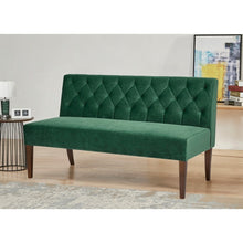 Load image into Gallery viewer, Gold Sparrow Chelsea Emerald Settee #9930