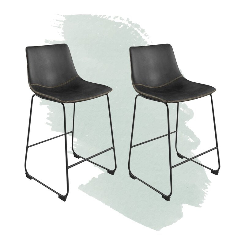 Slate gray Coleman Counter Stool (Set of 2) 7732