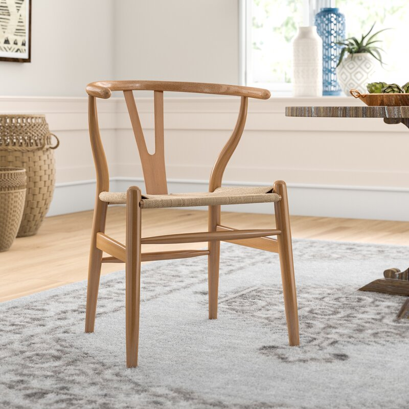 Dayanara Solid Wood Slat Back Dining Chair set of 2 - 416CE