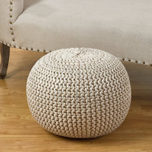 "Load image into Gallery viewer, Degraff 20"" Round Pouf Ottoman 7517"
