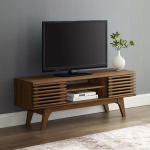 "46"" Render Media Console Tv Stand Walnut #9182"