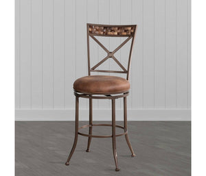 Compton Swivel Counter Height Stool Brown - Hillsdale Furniture 7647