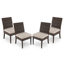 Load image into Gallery viewer, Halsted 4pk All-Weather Wicker Patio Dining Chair 2081