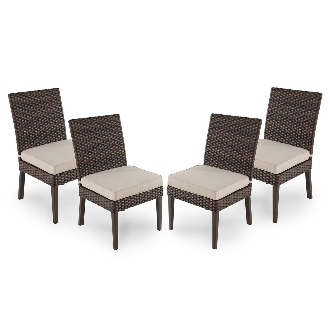 Halsted 4pk All-Weather Wicker Patio Dining Chair 2081