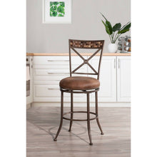 Load image into Gallery viewer, Compton Swivel Counter Height Stool Brown - Hillsdale Furniture 7647