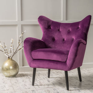 Alyssa New Velvet Arm Chair 2015