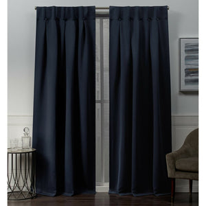 Godalming Solid Color Room Darkening Thermal Tab Top Curtain Panels (Set of 4) 7588