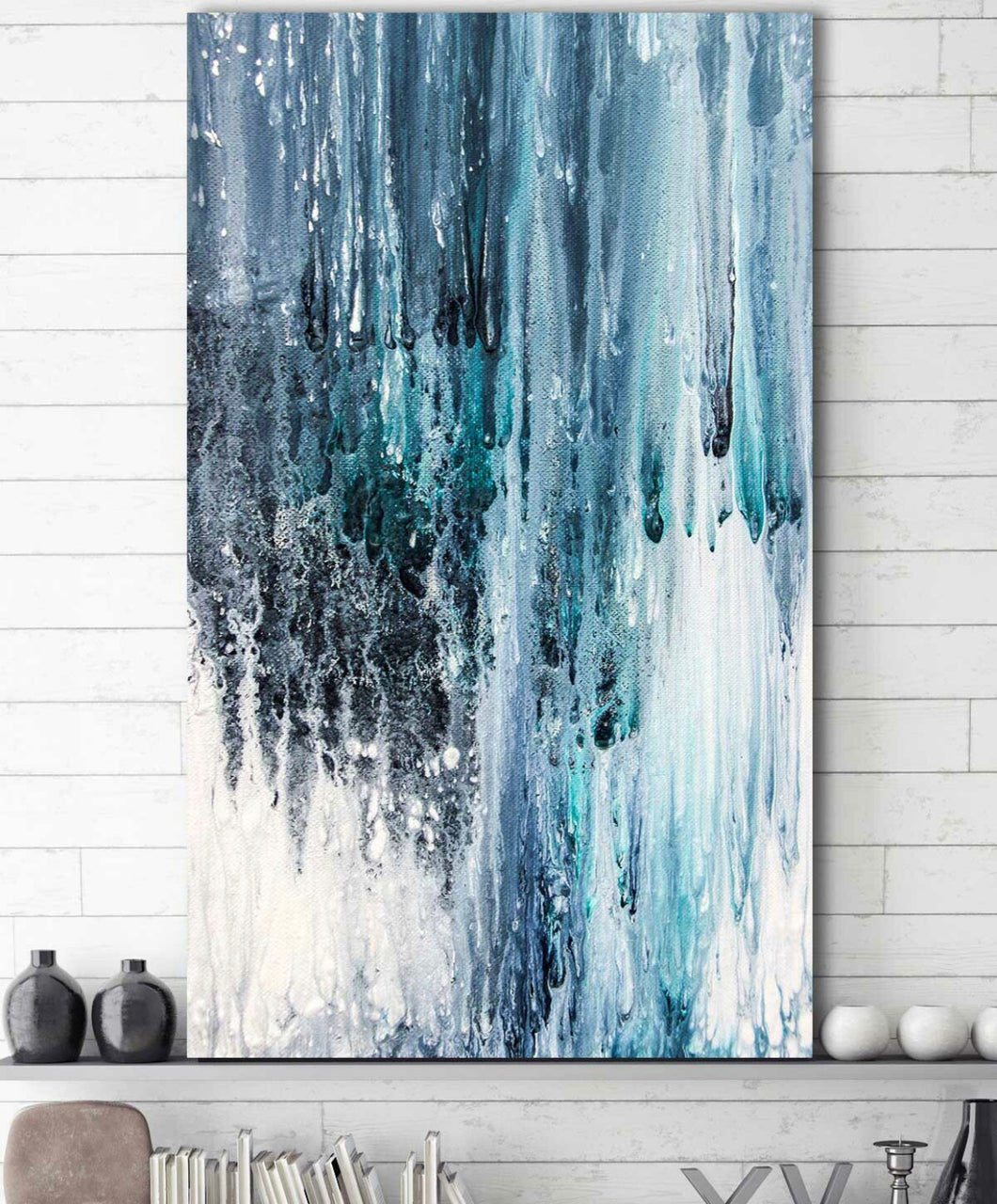 'Wet Paint' Acrylic Painting Print on Wrapped Canvas