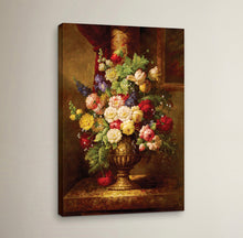 Load image into Gallery viewer, 'Reaissance Flowers' Wrapped Canvas Painting Print