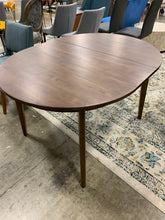 Load image into Gallery viewer, Astrid Mid Century Round Dining Table with Extension Leaf