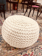 Load image into Gallery viewer, Cloverly Chunky Knit Pouf