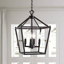 Load image into Gallery viewer, Maggiemae 4 - Light Lantern Geometric Chandelier 7693