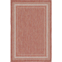 Load image into Gallery viewer, Oden Rust Red/Beige Indoor / Outdoor Area Rug 7530