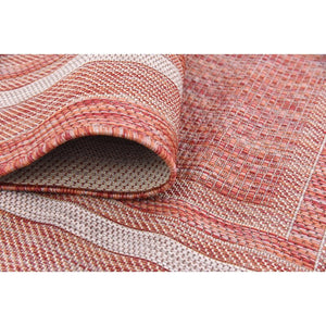 Oden Rust Red/Beige Indoor / Outdoor Area Rug 7530