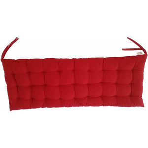 Red Cottone Cotton Chair Pads w/Ties| Indoor/Outdoor Bench Cushion  HA9735