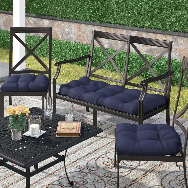 3 Piece Indoor/Outdoor Bench and Dining Chair Cushion Set 7765