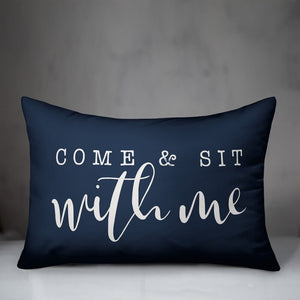 Luedtke Come and Sit with Me Lumbar Pillow #CR1087