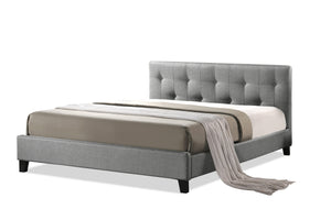 Annette Platform Bed with Upholstered Headboard
