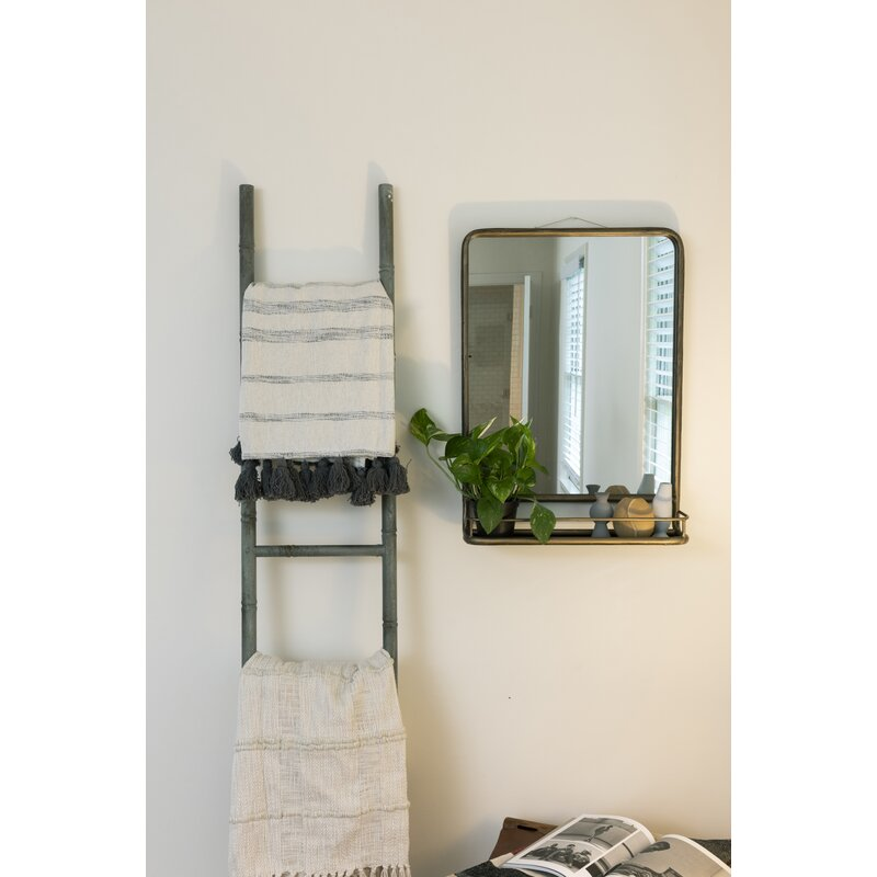 Peetz Accent Mirror with Shelves 7737