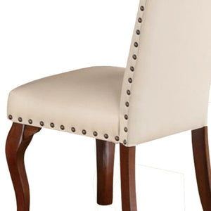 Rowlett Upholstered Side Chair in Cream (Set of 2) 7722