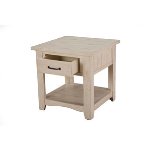 Soham Solid Wood End Table with Storage 7509
