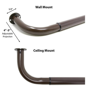 Wraparound Curtain Single Rod (Set of 2) 7553