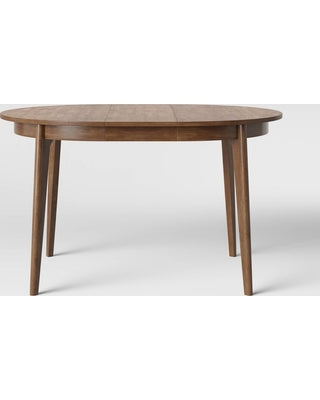 Astrid Mid Century Round Dining Table with Extension Leaf
