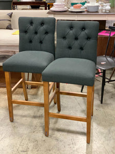"28"" Brookline Tufted Barstool in Gray set of 2 -  Black"