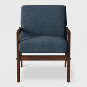 Peoria Wood Arm Chair Blue