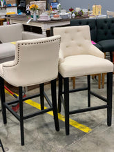 Load image into Gallery viewer, Tufted Lydia Upholstered Barstool set of 2