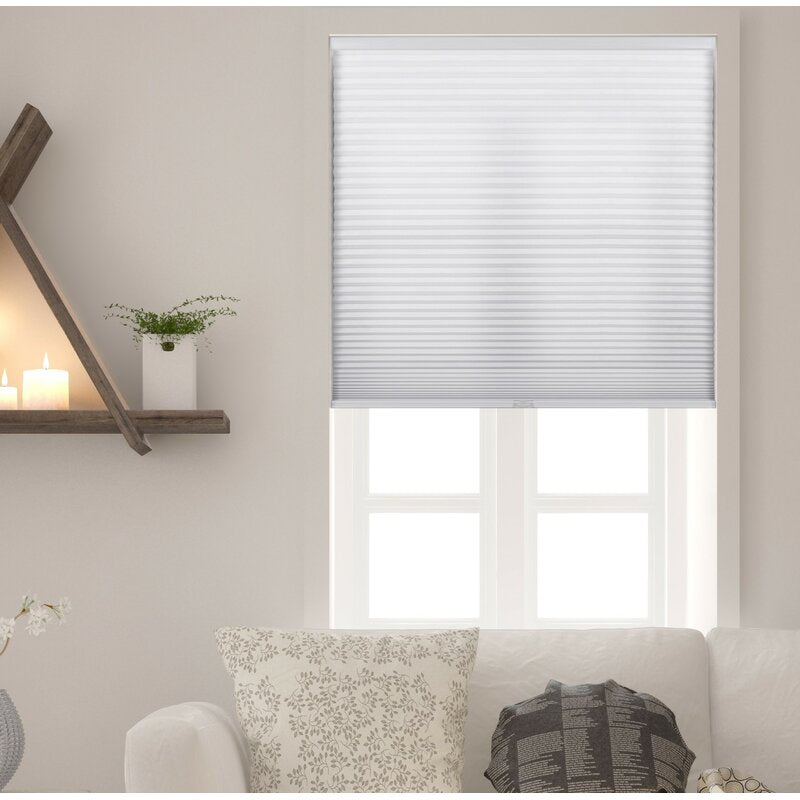 Bloomsbury Market Honeycomb Semi-Sheer Pure White Cellular Shade (64