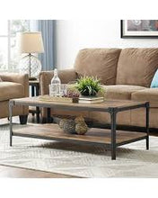 Load image into Gallery viewer, Angle Iron Rustic Wood Coffee Table  #9160