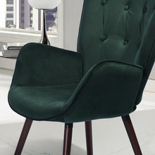 Load image into Gallery viewer, Kas Green Velvet Tufted Arm Chair 7491