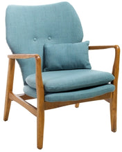 Load image into Gallery viewer, Haddie Mid Century Modern Fabric Club Chair, Blue