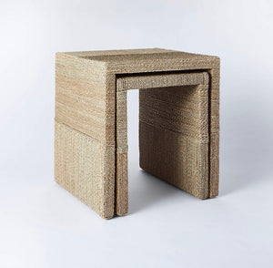 Set of 2 Woven Nesting Tables  #4240