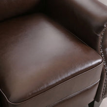 Load image into Gallery viewer, Faux Leather Manual Pushback Recliner Brown #290HW