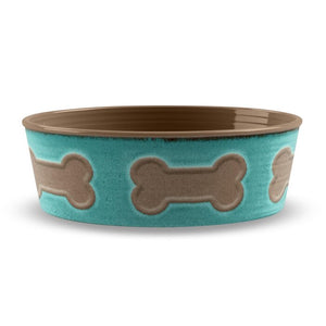 Jojo Bone Emboss Melamine Pet Bowl #138HW