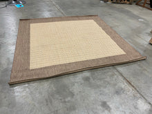 "Load image into Gallery viewer, Beige/Brown 7'6"" x 7'6"" Square Indoor/Outdoor Area Rug(1697RR)"