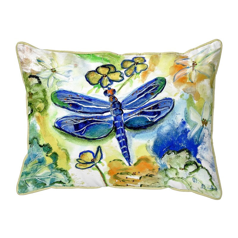 Isola Dragonfly's Garden Indoor/Outdoor Lumbar Pillow HA9719