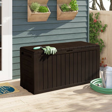 Load image into Gallery viewer, Keter Marvel Plus 71 Gallon Deck Box Brown(462)