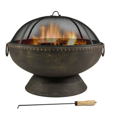 Load image into Gallery viewer, Tuscola Firebowl Steel Wood Burning Fire Pit #246HW