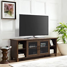Load image into Gallery viewer, Columbus TV Stand With Middle Doors Dark Walnut #185HW