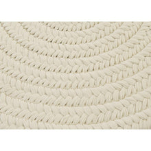Load image into Gallery viewer, Boca Ratton Oval Woven 8'x10' Area Rug Natural White AS IS(1698RR)