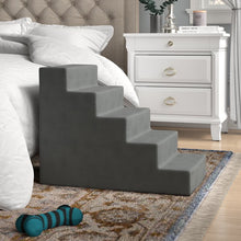 Load image into Gallery viewer, Grommit High Density Foam 5 Step Pet Stair Gray(1868RR)