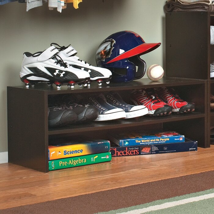 6 Pair Stackable Shoe Rack Espresso #288HW