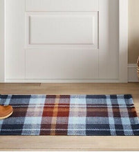 Load image into Gallery viewer, Threshold 2X3 Plaid Woven Accent Rug Blue(1671RR)