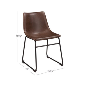 Irving Upholstered Side Chair in Brown 2 in Box #55HW