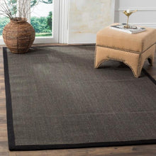 Load image into Gallery viewer, Natural Fiber Charcoal 6 ft. x 9 ft. Indoor Area Rug(1660RR)