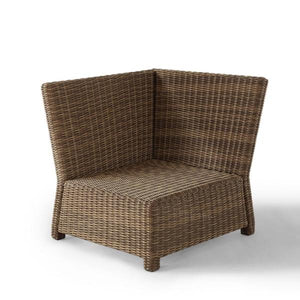 Bradenton Wicker Corner Outdoor Sectional Chair AS IS(1623RR)